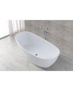 Emma Solid Surface vrijstaand ligbad 1795x845x640 wit