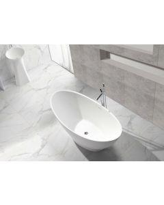 Julia Solid Surface vrijstaand ligbad 1860x820x520 wit