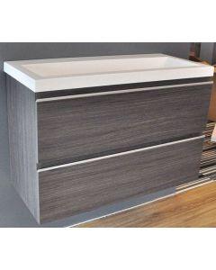 Sacha onderkast 80x36 houtnerf grijs