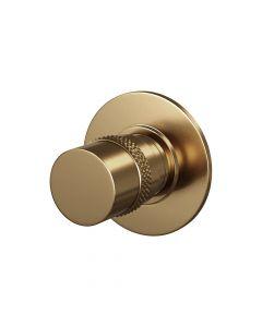 Stopkraan met ronde knop en ronde rozet Gold Edition