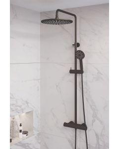 Thermostatische Opbouw Regendouche 30cm Set 4 Black Edition