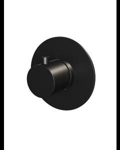 Inbouwthermostaat ronde knop ronde rozet Black Edition