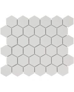 Mozaiek Barcelona Hexagon Extra Wit 5,1x5,9