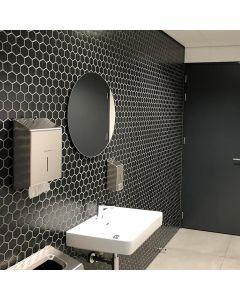 Mozaiek Barcelona Hexagon Zwart 5,1x5,9