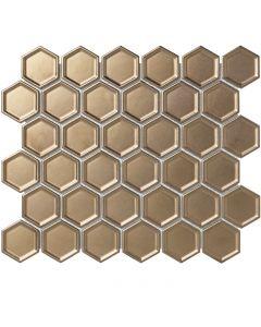 Mozaiek Barcelona Hexagon Brons 5,1x5,9