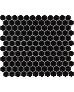 Mozaiek Barcelona Hexagon Zwart 2,3x2,6