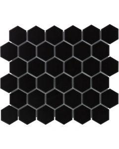 Mozaiek Barcelona Hexagon Zwart Mat 5,1x5,9