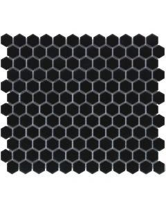 Mozaiek Barcelona Hexagon Zwart Mat 2,3x2,6