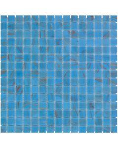 Mozaiek Amsterdam Vierkant Licht Blauw/Goud 2x2