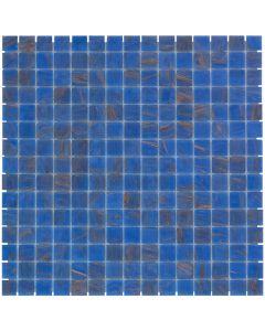 Mozaiek Amsterdam Vierkant Blauw/Goud 2x2