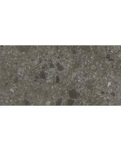 Vloertegel Terrazzo Hannover Black 40x80 rett