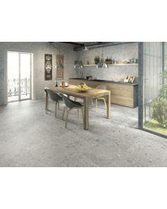 Vloertegel Terrazzo Hannover Steel 40x80 rett