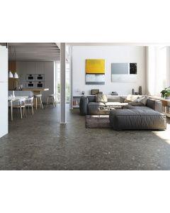 Vloertegel Terrazzo Hannover Black 80x160 rett