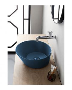 Mees Design Opbouw Waskom Rond Mat Blauw