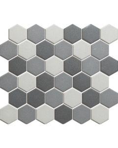 Mozaiek London Hexagon Donker Grijs mix 5,1x5,9
