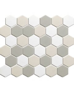 Mozaiek London Hexagon Wit mix 5,1x5,9