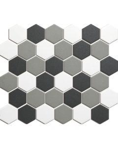 Mozaiek London Hexagon Contrast mix 5,1x5,9