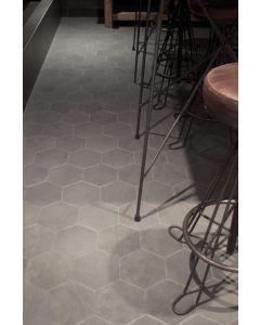Hexagon-zeskant Madelaine Antraciet 17,5x17,5