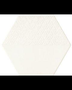 Hexagon Opal Blanco decor 28,5x33