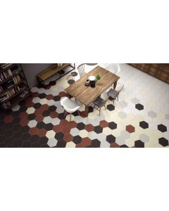 Hexagon Opal Marrón 28,5x33