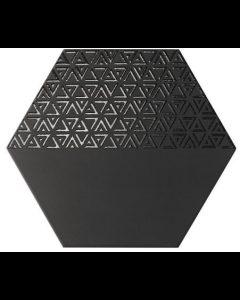 Hexagon Opal Nero Decor 28,5x33