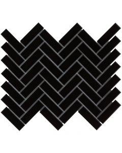 Mozaiek Paris Visgraat Zwart 2,3x7,3
