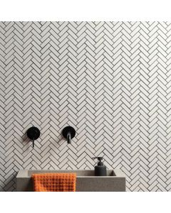 Mozaiek Paris Visgraat Wit 2,3x7,3