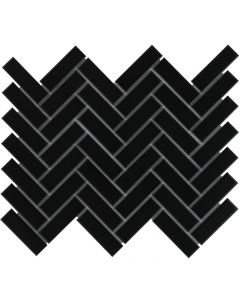 Mozaiek Paris Visgraat Zwart Mat 2,3x7,3