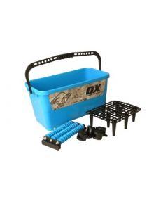 Schoonmaakbassin met 3 rollers 24 liter OX Trade