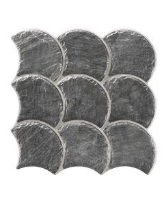 Visschub tegels Slate Black 30,7x30,7