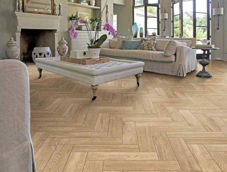 Keramisch Parket Visgraat Real Wood Castagno 15x60