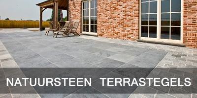 Natuursteen terrastegels
