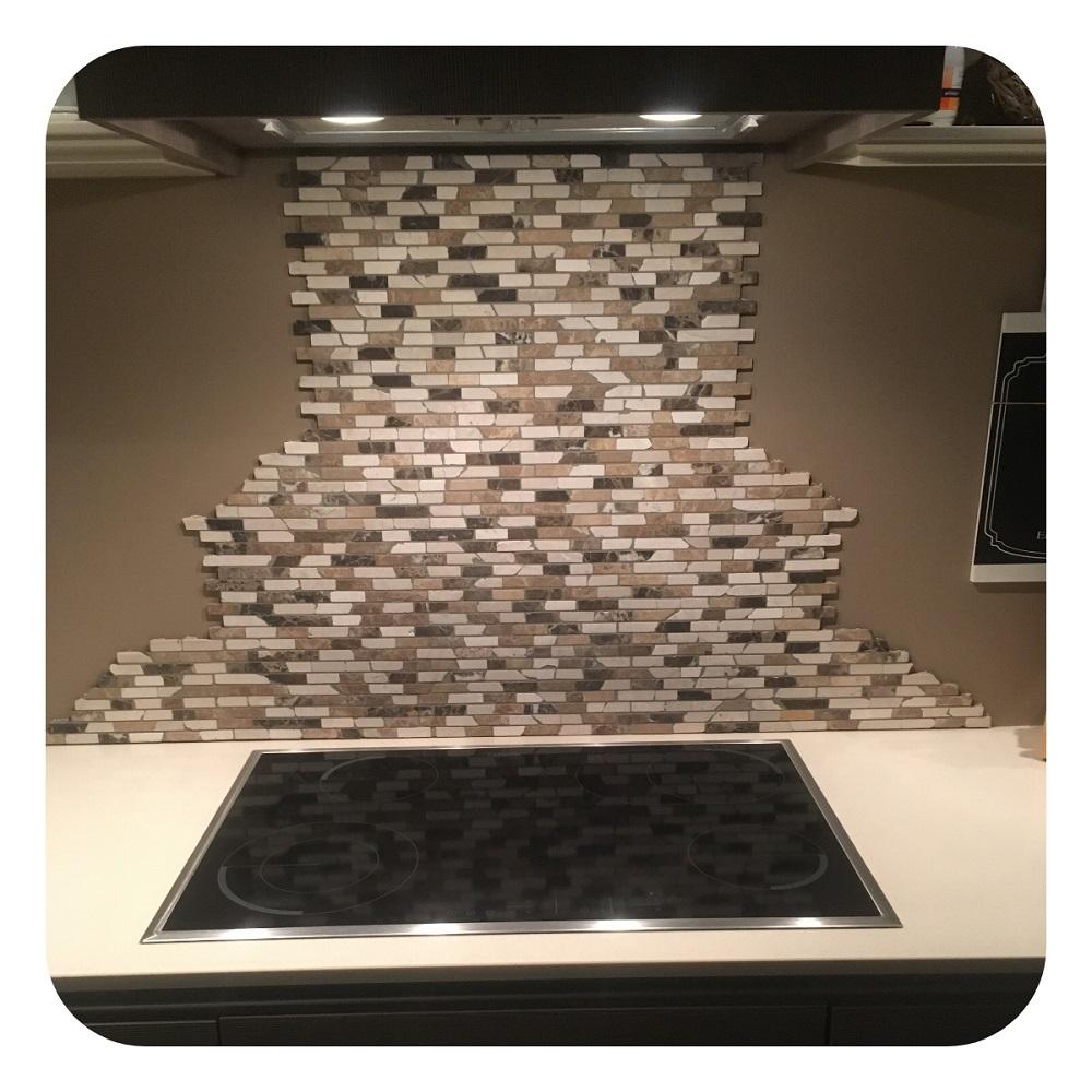 Mozaiek dark en light beige